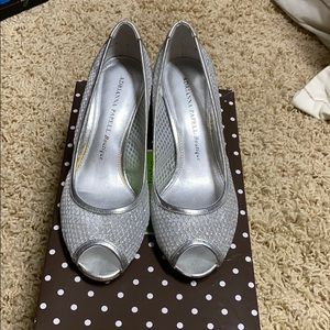 Adriana Papell Silver Heels